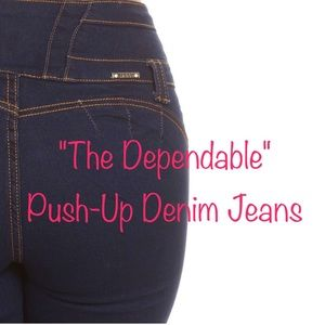"Denim - ""The Dependable"" Push Up Denim Jeans - Dark Blue"