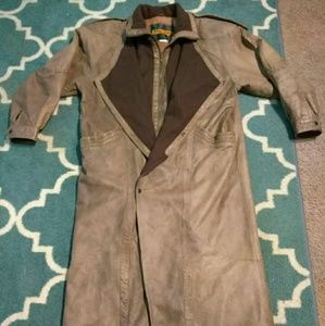 One Way Other - ❤ Vintage One Way by Midway Leather Trench Coat