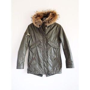 SAM. Other - Sam. New York Fur Trimmed Green Parka sz Girls' 12