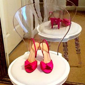 Fuchsia Satin Kate Spade ♠️ Heels 