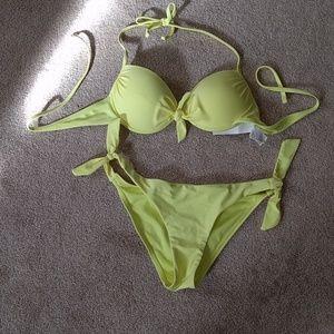 Pull&Bear Other - Neon yellow green bikini