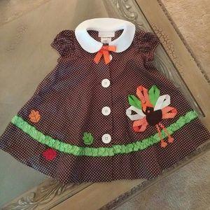 Bonnie Baby Other - Little girls turkey dress