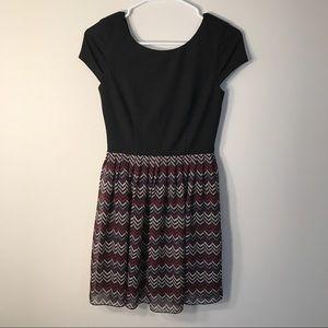 Speechless Dresses & Skirts - Speechless Fit and Flare V-neck Back Dress