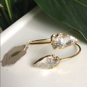 Bondhu Jewelry - Bondhu Crystal Arrowhead Bangle
