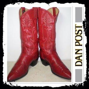 Dan Post Shoes - Dan Post red collectors addition boots