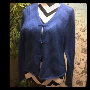 Margaret O'Leary Sweaters - AMAZINGLY SOFT SUPER LIGHT JEWELED BUTTON CARDIGAN