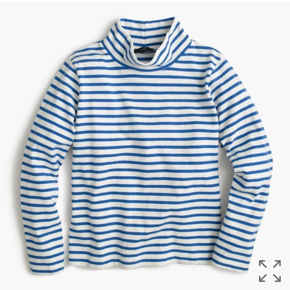 J Crew Sailor Stripe Funnel Neck Turtleneck Tshirt 13ce6ec26