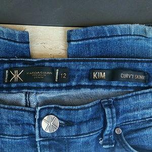 Kardashian Kollection Denim - KIM KARDASHIAN Curvy Skinny Jeans! *Damage*