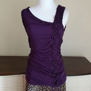Kenar Tops - Rouched purple top