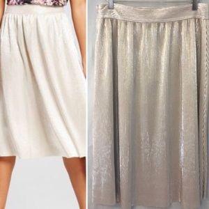 Who What Wear Dresses & Skirts - Platinum Metallic Skirt