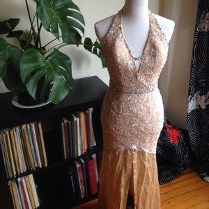 Sherri Hill Dresses & Skirts - SHERRI HILL blush halter evening gown (0/2)
