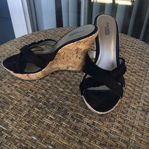 Charlotte Russe Shoes - Black wedges