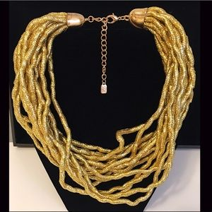 FUNKY LIGHT WEIGHT GOLD NECKLACE 