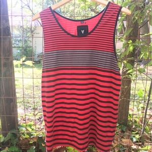 Univibe Other - XL Red and Black Striped Univibe Tank-top