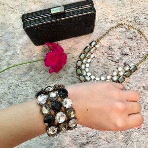 Jeweled Statement Bracelet
