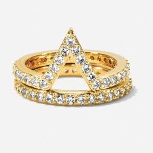 henri bendel Jewelry - Set of 2 Henri Bendel midi rings