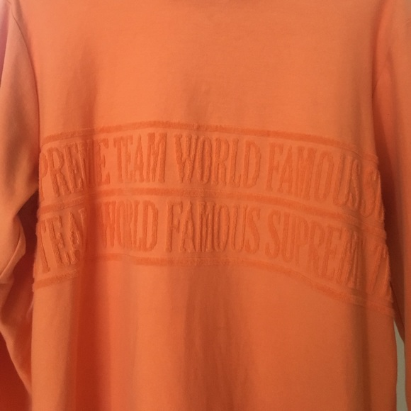 Supreme Sweaters - Supreme coral long sleeve crew neck. ⚡️