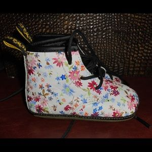 Baby Toddler Booties Floral Doc Martens