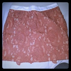 Lace pink skirt as seen on Jessie James Decker