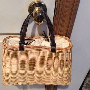 Ann Taylor Straw Handbag