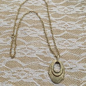 11thstreet Jewelry - Vintage gold deco necklace