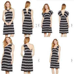 White House Black Market Dresses & Skirts - WHBM striped convertible fit and flare dress