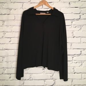 Kate Hill Tops - Black v neck Blouse