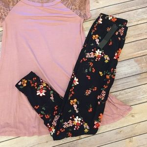 Pants - New! Floral Leggings buttery soft