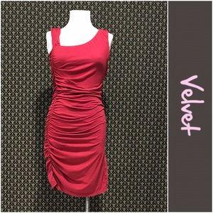 Velvet Dresses & Skirts - Velvet Brand Ruched Sleeveless Dress