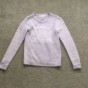 Loft XXSP heather grey sweater NWOT