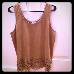 Pixley Tops - Pixley Stitch Fix Top Brown/Tan Size Large