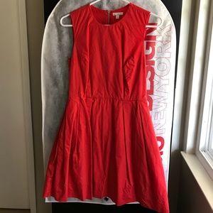 Gap - Red full skirt dress + pockets!