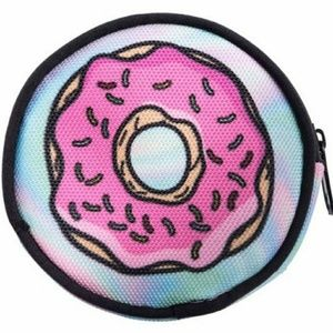 DoughNOT Steal My Change Pouch! Round, brand new!
