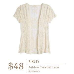 Pixley Stitch Fix Crochet Top Size Medium