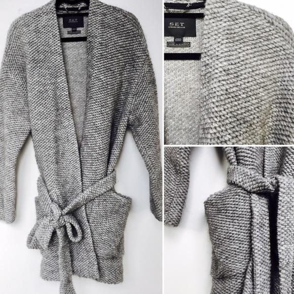 629130ef75 SET URBAN DELUXE wool  alpaca blend Sweater jacket