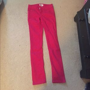 Red Skinny jeans size 1.