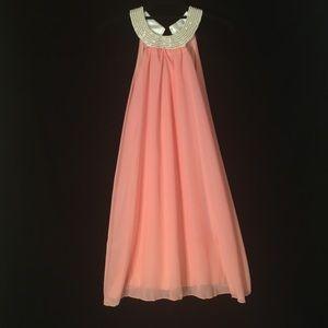 Dresses & Skirts - Pearl Beaded Peach Dress
