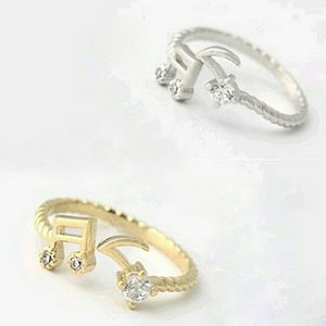 Jewelry - New! Cute Musical Note Midi Rings  (Gold & Silver)