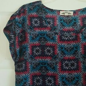 Hippie Rose Tops - **FINAL PRICE** Hippie Rose Tribal Color Print