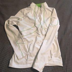 Danskin Jackets & Blazers - White and Green Active Wear Jacket