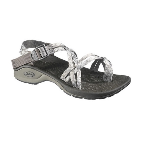 Women S Sz Chaco Grey Blue Shoes
