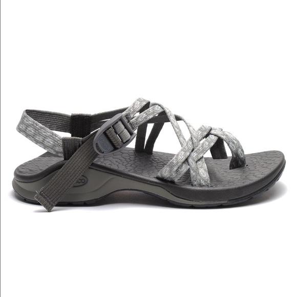 Women S Sz Chaco Grey Blue Shoes