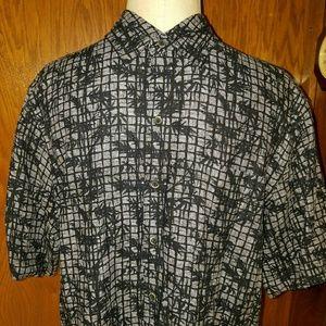 Tasso Elba Other - Tasso Elba Island Mens L Short Sleeve Shirt Navy