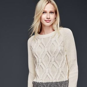 The Gap Cable Knit Pullover Sweater