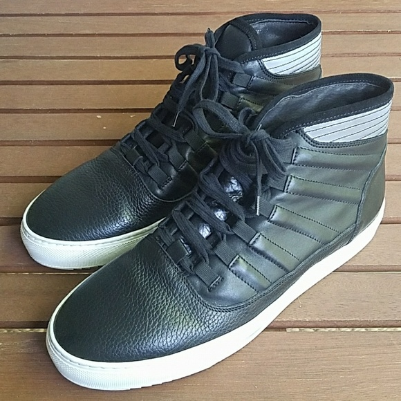 Bacco Bucci Other - Bacco Bucci Baal black leather high tops worn once
