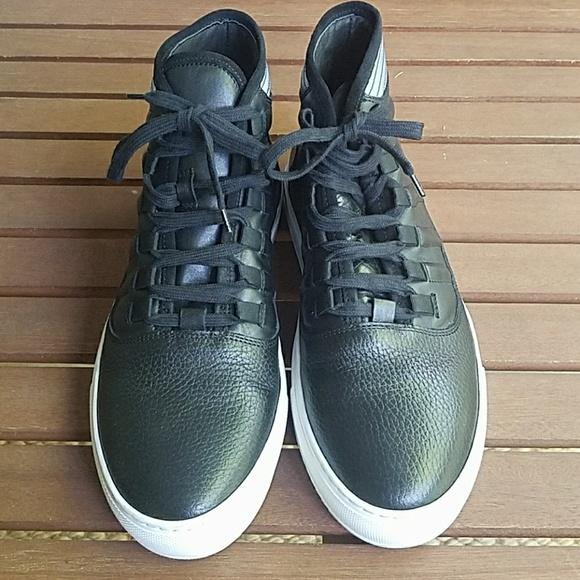 Bacco Bucci Shoes - Bacco Bucci Baal black leather high tops worn once