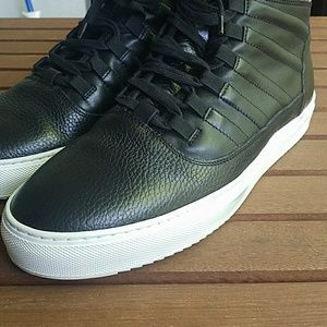Bacco Bucci Shoes - Bacco Bucci Baal black leather high tops worn once