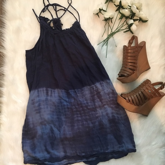 American Eagle Outfitters Dresses & Skirts - 🖤 Blue Strappy Dip Dyed Dress