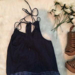 American Eagle Outfitters Dresses - 🖤 Blue Strappy Dip Dyed Dress