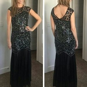 Dresses & Skirts - Black sequins wedding bridesmaid maxi formal dress